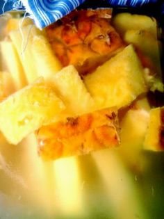 Make pineapple vinegar out of the rinds and cores.