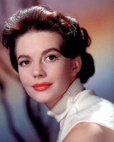 Natalie Wood | Natalie Wood wearing some gorgeous bright lipstick and a polo neck ...