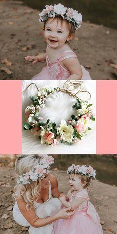 Flower halo / flower crown/ boho / flower crown flowers all the way around / bride / bridesmaide / flower girl #ad #wedding #boho