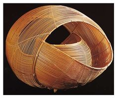 'Tidal Wave' a bamboo sculpture by Yamaguchi Ryûun