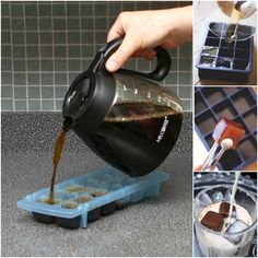 How to DIY Coffee Ice Cubes for Your Iced Coffee. #diy, #tips, #coffeecubes