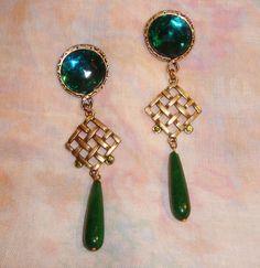 maxi brinco de jade gota