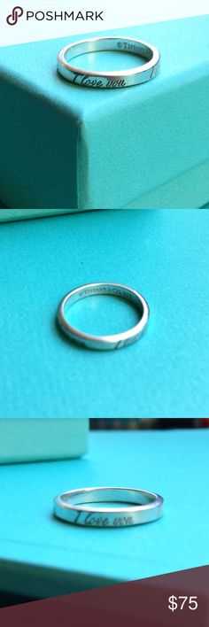 Tiffany & Co. I Love You Ring sz 5 in good condition.  comes in Tiffany box. Jewelry Rings