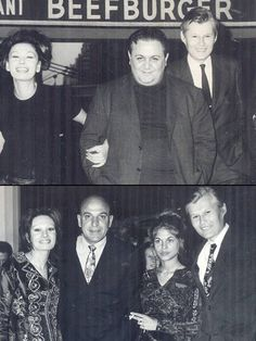 Rika Diallina, Manos Hadjidakis & Dimitris Liberopoulos Rika Dialina, Telly Savalas, British dancer Sally Adams (later Savalas' wife) and reporter Dimitris Liberopoulos