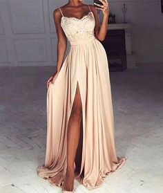Spaghetti Prom Dresses,Leg Slit Prom Dress,Sweetheart Prom Dresses,Formal Gown,Unique Prom Dress,Cheap Prom Dress,New Prom Dress,PD00395