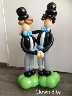 Clown Biba.nl ; Bruidspaar mannen van ballonnen, Bruidegommen.