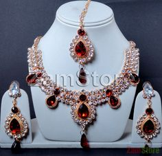 Imitation Diamonds Cubic Zirconia, Perfect for Bride! White and Maroon. $34.00