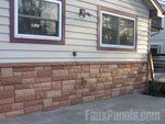 Artificial rock exterior paneling creates a tidy exterior Stacked Stone Panels, Artificial Rocks, Faux Panels, Stone Pictures, See Picture, Exterior, Indoor, Outdoor Decor, Home Decor