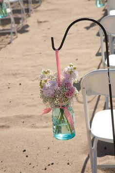 Mason-Jar-wedding-reception-decor-centerpieces-beach-wedding.jpg 712×1,068 pixels