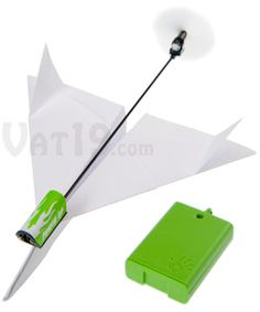 PowerUp - Electric Paper Airplane Conversion Kit  Toss homemade paper airplanes hundreds of feet!  $19.99