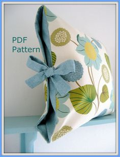 Diy pillow!--Envelope style, no zippers! So easy to make!