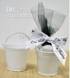 Wholesale , white color mini pails wedding favors, mini bucket, candy boxes favors,favor tins, Free shipping, $0.53-0.71/Piece | DHgate