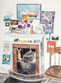 "Emily Sutton, ""The Studio Fireplace"", The Scottish Gallery, Edinburgh, Contemporary Art Since 1842"