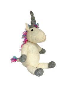 The Crafty Kit Co Unicorn knitting kit & pattern #knitted #knitting #craft #make #kit #gift #craft