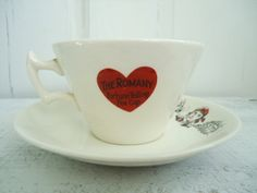 Rare Fortune Telling Tea Cups and Saucers  by SwirlingOrange11, $224.00