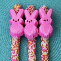 Pretzels with funfetti and peeps