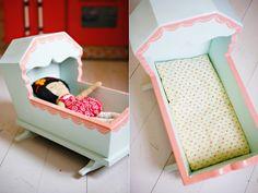 DIY doll cradle