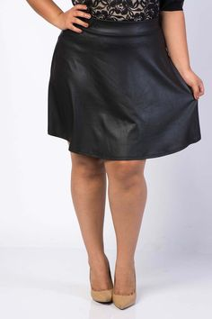 Fun Faux Leather Skirt