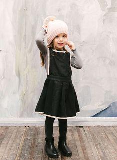 Vierra Rose Isla Jumper Dress in Black - D3016 - PRE-ORDER