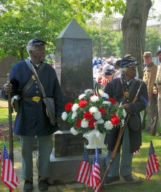 """May 31, 2010, Chestertown, MD. — On this Decoration Day in Chestertown a USCT Ceremony.   Re-enactors portraying the """"United States Colored Troops"""" (USCT) are present."""