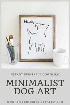 Get this personalized, minimalist dog art delivered right to your mailbox and ready to print. Great for last minute gifts for your dog loving friends! Gifts For Dog Owners, Gifts For Pet Lovers, Dog Lovers, Best Dog Gifts, Dog Mom Gifts, Dachshund Art, Dachshund Gifts, Pet Loss Gifts, Dog Art