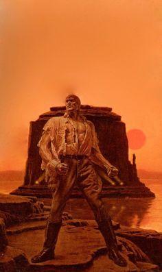 MAD MESA, James Bama painting for Doc Savage Bantam Books cover