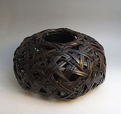 japanese bamboo baskets | Japanese Bamboo Basket by Shiraishi Hakuunsai