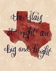 The stars at night are big and bright