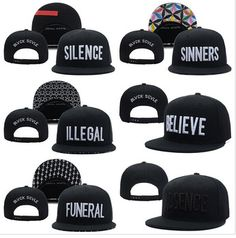 2015 Black Scale Silence Snapback hats Believe Absence Funeral Illegal Sinners mens women classic adjustable cap