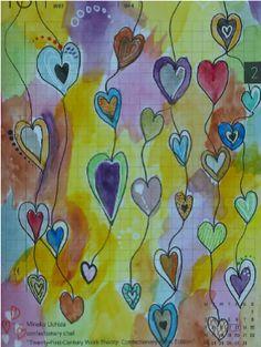 Harts Hearts, Painting, Painting Art, Paintings, Heart, Drawings