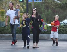 Gavin Rossdale takes his boys Kingston, Zuma and Apollo to get sushi on October 1, 2015