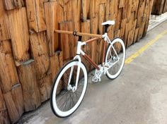 The Fixed Gear World: Wooden bike prototype by Artjoms Prokopiško
