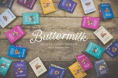 Buttermilk confectionery branding