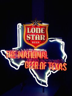 Lone Star Beer - The National Beer of Texas.  Drink Lone Star or Shiner Bock if you want non-Texans to know you're a Texan.  Drink Pearl if you only care that Texans know.