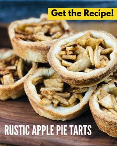 These mini pie tarts are perfect for when you just can't cut a pie at an event. You get a flaky pastry crust along with delicious apple pie filling. It will become one of your favorite recipes. Get printable recipe by clicking the link