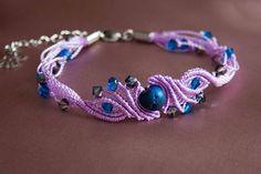 Gift for her. Gift for woman. Christmast gift. Elegant bracelet with agate and Swarovski crystlas. Avant garde bracelet