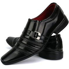 85a74582f7 Kit 2 Pares de Sapatos Sociais Side Gore e Oxford Masculino SapatoFran Preto