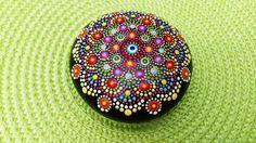 Hand Painted Mandala Stone 4/ Medium Mandala/ Table by Mandalaole