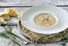 Zet dit weekend een heerlijke gerookte zalmsoep op tafel. Een lekkere, luxe soep die je snel en eenvoudig maakt in de SoupMaker.
