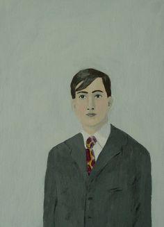 elizabeth bauman print: A man with strong eyes