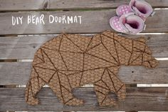 DIY Geometric Bear Doormat