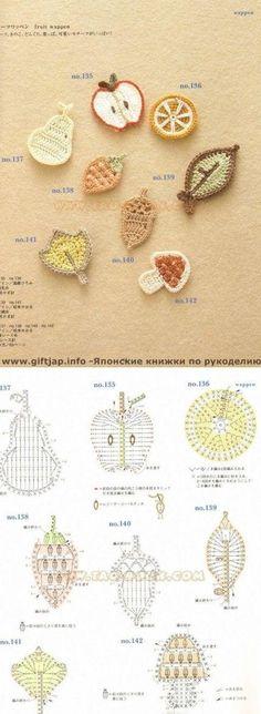 {Crochet} small apple, Xiao Juzi, small pears, small mushrooms crochet method. [A] group meatball