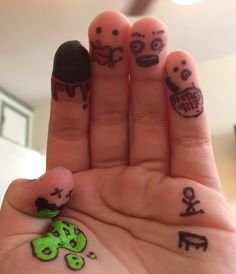 If you get really bored, just draw on your fingers