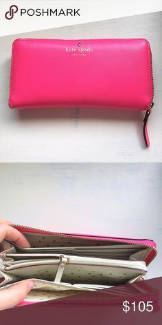 Selling this ♠️ Kate Spade Large Pink Confetti Wallet on Poshmark! My username is: ashley_mac3. #shopmycloset #poshmark #fashion #shopping #style #forsale #kate spade #Handbags