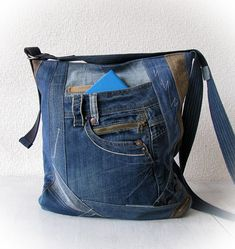 jean messenger bag denim crossbody bag jean sling bag denim