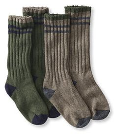 "#LLBean: Merino Wool Ragg Sock, 12"" Stripe 2-Pack"