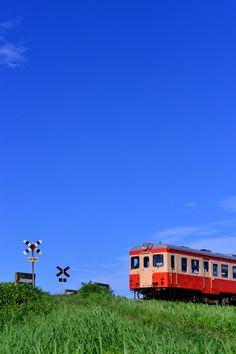 【いすみ】キハ52-125単行運転 Beautiful Web Design, Japan Train, Aesthetic Japan, Japanese Landscape, Train Station, Serenity, Cool Pictures, Scenery, Wallpaper