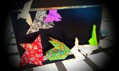 Pack figuras hechas de origami.