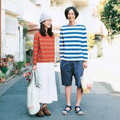 set of twins striped shirt - autumn & winter Fashion Couple, Girl Fashion, Fashion Outfits, Men Fashion, Couple Photography Poses, Fashion Photography, Ulzzang, Japanese Couple, Japanese Photography