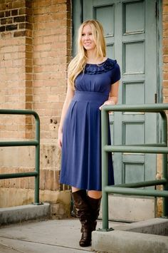 love the color! affordable and cute dress!